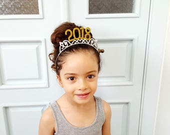 2018 Tiara New Years Eve Crown- Fit Toddler Kids & Adults, New Year Eve 2018, New Year Eve Tiara, New Year Headband, New Year Photo shoot