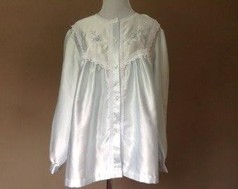 L / Satin Bed Jacket by Barbizon / Large / FREE USA Shipping