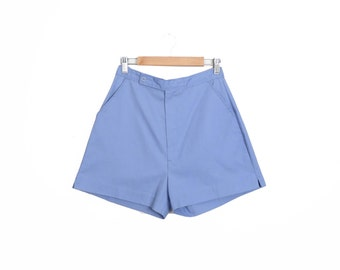 Vintage 90s Lilac Cotton High Waisted Shorts Size M