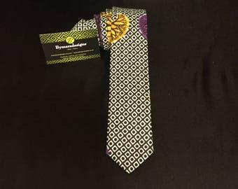 Neck tie , africanfabric,african print.