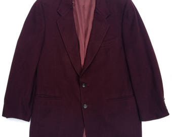 Vintage Aubergine Cashmere 2 Button Blazer 40S