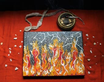 Original Painting Prints - Fiery Ladies
