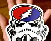 "Stealie Trooper stickers 5"" x 5"""