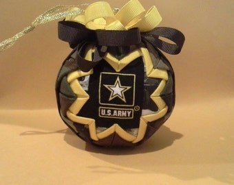 Army military Christmas ornament