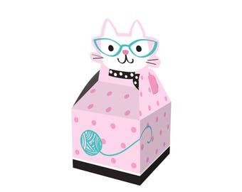 Kitten Favor Boxes - Meow Birthday - Kitty Party - Cat Baby Shower - Kitten Party Favors - Kitty Birthday - Cat Birthday - Kitty Cat Party