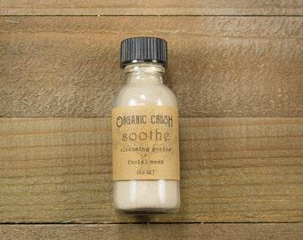 mini S O O T H E Cleansing Grains + Facial Mask   Facial Cleanser   3 in 1   Organic Face Wash   Organic Face Mask   Herbal Skin Care