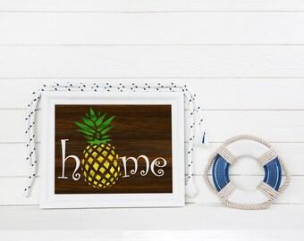 Good Pineapple Home Decor, Tropical Home Art, Hawaiian Home Art, Decorative  Pineapple, Pineapple