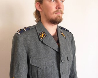 Swiss military coat | Etsy