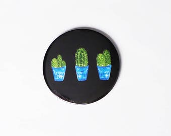 Cactus, Pocket Mirror, Round Mirror, Makeup Bag, Gifts for her, Bridesmaid, Sister, Nature lover