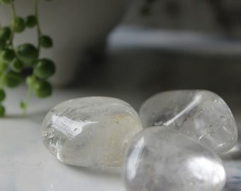 Clear quartz tumbles