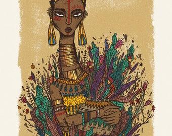 Black Woman Print