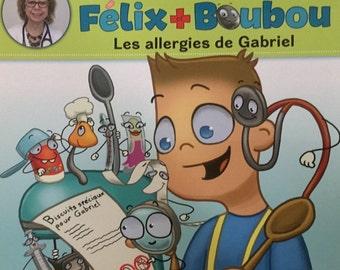 Allergies Gabriel, child, allergy, Felix book and bird, health, illustrated album
