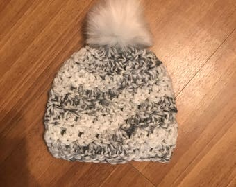 Marbled Pom Hat