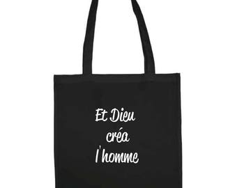 "Tote bag ""And God created man"""