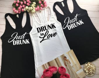 Bridal party shirts, Bachelorette party, Bridesmaid gift, Bachelorette tanks, Fey once, Bridal party set of, Women's Clothing, Clothing b24
