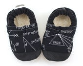 math baby shoes tula booties trig tula baby shoes soft soles shoes for baby black booties nerd baby shoes black toddler slippers equations