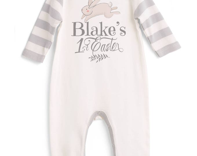 Baby Boy First Easter Outfit, Personalized Baby Boy Easter Outfit, Custom Infant Easter Onesie, Newborn Easter Baby Bodysuit Boys Tesababe