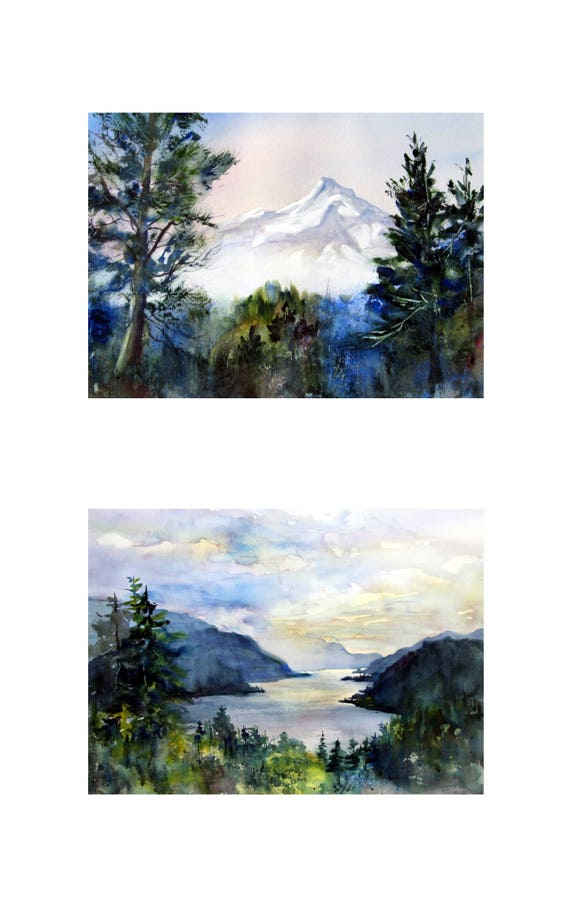 10x16 matted prints, matted and or framed Mt. Hood 145 and Columbia Gorge 308