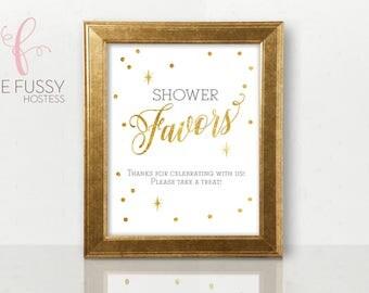Favor Table Sign, Baby Shower Favor Sign, Bridal Shower Favor Sign, Baby Shower, Bridal Shower, Baby Shower Sign, Printable Sign, Gold