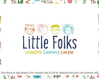 Children Premade Logo - Web + Print + Watermark Files - Limited Edition! Perfect for Daycare, Childcare, Boutique, Aftercare + much more!