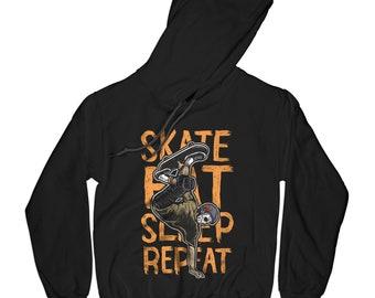 Skateboarder hoodie skater hoodie longboarder hoodie skatepark hoodie hipster hoodie urban hoodie city life hoodie    APV74