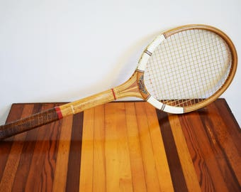 Stylish Vintage Dunlop Maxply 1970's Wooden Tennis Racket