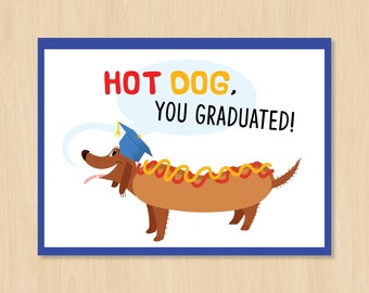 Hot Dog! Graduate Card