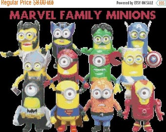 Minion Cross Stitch minion Pattern marvel cross stitch punto de cruz - 218 x 163 stitches - INSTANT Download - B1409