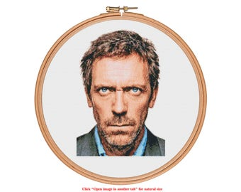 Dr House Cross Stitch Pattern - who is your idol? - Modern Cross Stitch Pattern PDF