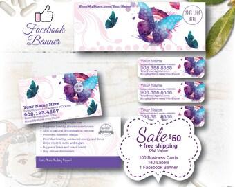 plexus Marketing Set - plexus Business Card, plexus Labels, plexus Facebook Banner