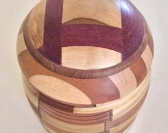 Hand Carved Hollywood Bowl Box with Reclaimed Wood from the Hollywood Bowl. By Jack Cousin