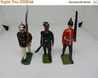 Inventory Sale 3 Vintage Britians LTD Toy Soldiers Moviable