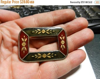 Inventory Sale Vintage Catherine Popesco FRANCE Laquer Enameled Art Nouveau Revival BROOCH PIN