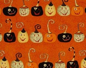 Witchy Orange Pumpkins fabric for Halloween by Studio E #3702-33