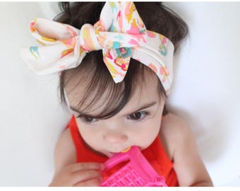 Baby bow wrap headbands, more colors !