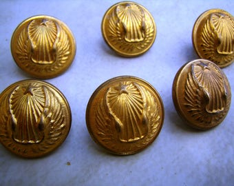 Antique uniform buttons, military buttons, the Air Force, Club uniform company, wing and star button