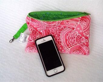 Watermelon Pouch, Fabric Wallet, Makeup Bag, Pencil Case, Zip Bag, Zipper Pouch, Toiletries Bag, Cosmetic Bag, Pencil Pouch, Purse Organizer