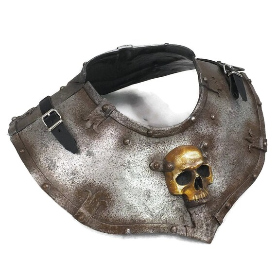 Larp Armor, Fantasy Ominous Skull Gorget, orc, demon, cosplay armor