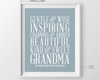 Birthday Gift for Grandmother Birthday Gift from Kids Grandmother Gift for Grandma Gift from Kids Grandma Christmas Gift Grandparents Gift