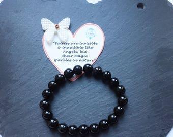 Gemstone Bracelet/Reiki Bracelet/Gift/Crystal Bracelet/Chakra Bracelet/Healing Stone Bracelet/Energy/Handmade Bracelet/Black Obsidian