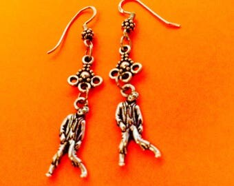 Zombie earrings, Halloween jewelry, Zombie jewelry, Halloween earrings, Halloween accessory, long earrings, JeriAielloartstore, made in USA