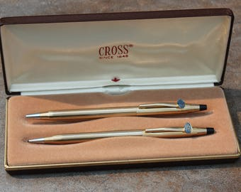 Cross 10k Gold-Filled Pen and Pencil Set for the Barber-Colman Company