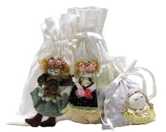 New Hand Made Doll Pouch_ 3 Pcs Set