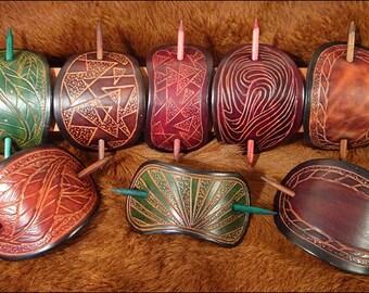 handmade large size barrettes (hair slides)