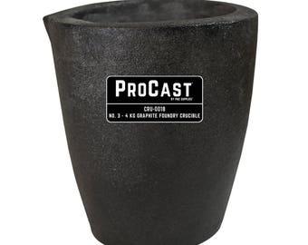 ProCast™ Premium Black No. 3 - 4 Kg Foundry Crucible Gold Precious Metal Casting Refining - CRU-0118