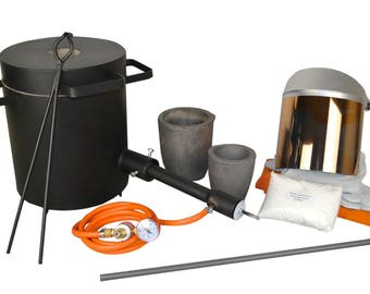 4 Kg Gold Silver Copper Melter's Kit Propane Furnace Forge and Jewelry Melting Metal Casting Tools - KIT-0057