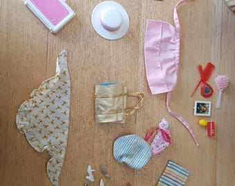 Barbie miscellaneous  accessories  lot, sporting goods, hat, briefcase, lantern