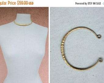 SUMMER SALE Vintage African Bronze Necklace - African Bronze Choker