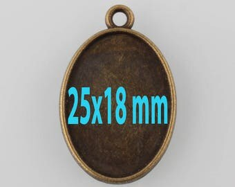 5 supports pendant oval tray (pr 25x18mm)