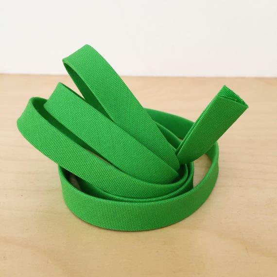 "Bias Tape in Kona Parrot cotton 1/2"" double-fold binding- Bright green- 3 yard roll"